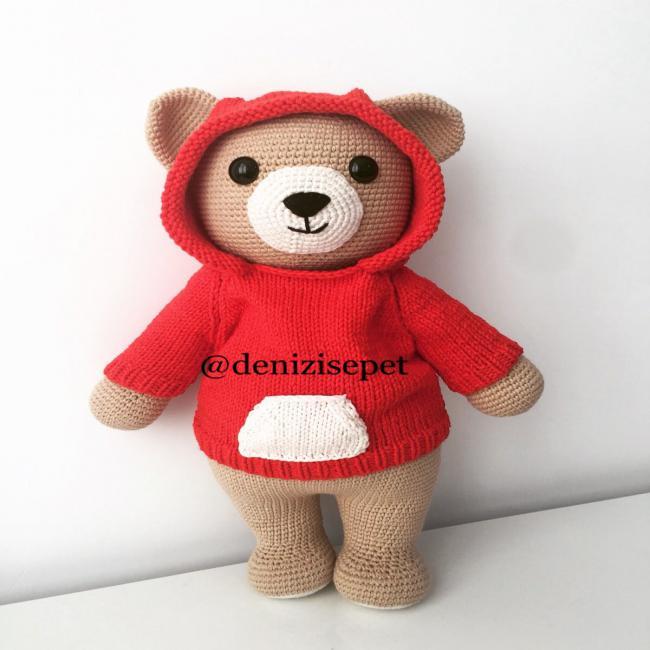 amigurumi ayı,amigurumi bear | biryudumhobi-açıklamalı anlatımlı ... | 650x650