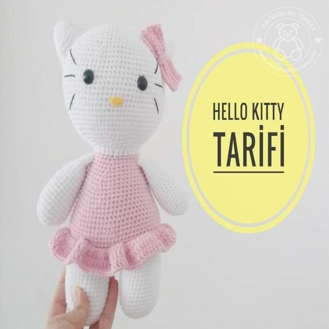 Büyük Boy Amigurumi Hello Kitty | Hello kitty, Amigurumi modelleri ... | 650x650