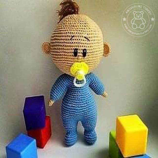 Amigurumi Tığ İşi Emzikli Bebek Yapılışı (açıklaması,tarifi) | 650x650