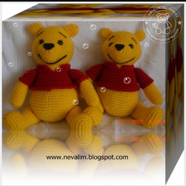 Vintage Crochet PDF Pattern -Winnie the Pooh Tigger Piglet and ... | 650x650