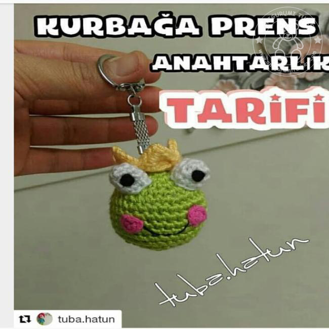 Amigurumi Türkiye-Kedi Anahtarlık Tarifi | 650x650