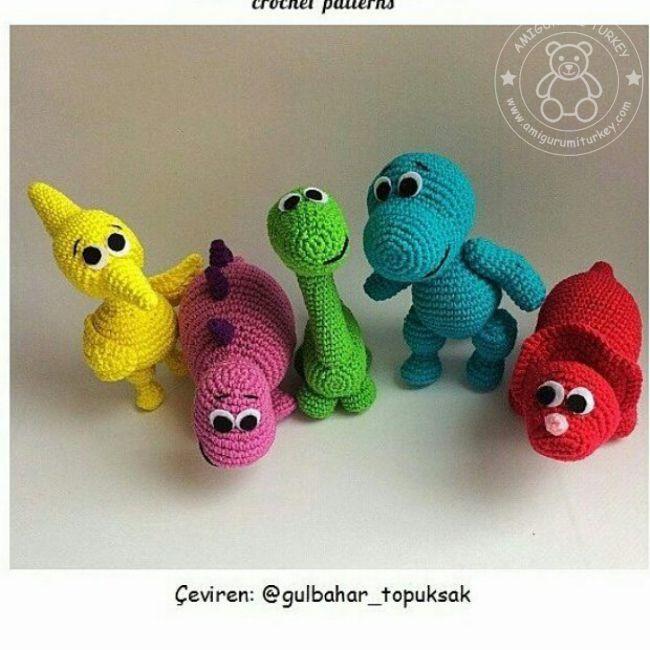 Crochet Tutorial: Spike the T-Rex Dinosaur Amigurumi - YouTube | 650x650