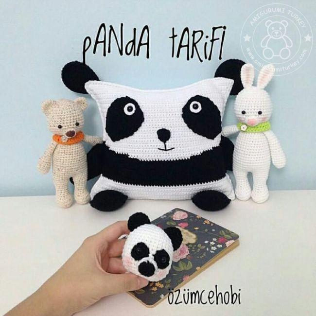 Amigurumi Panda Yapımı - 3. Bölüm: Birleştirme - YouTube | 650x650