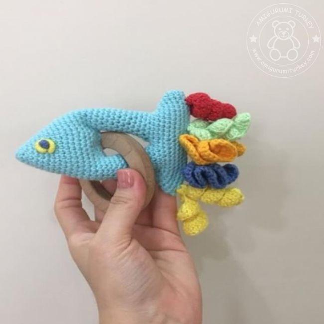 Amigurumi küçük mavi balık – 10marifet.org | 650x650