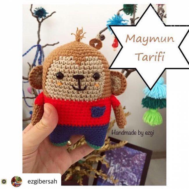Amigurumi Maymun Baş Örülüşü , Canım Anne @Canım Anne - YouTube | 650x650