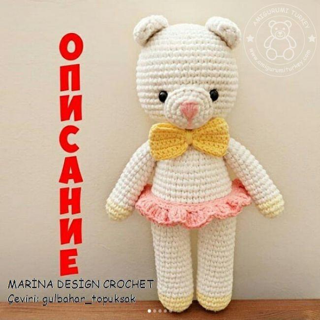 Ayı Teddy Yapımı Amigurumi - #1 (Crochet Amigurumi Teddy Bear ... | 650x650