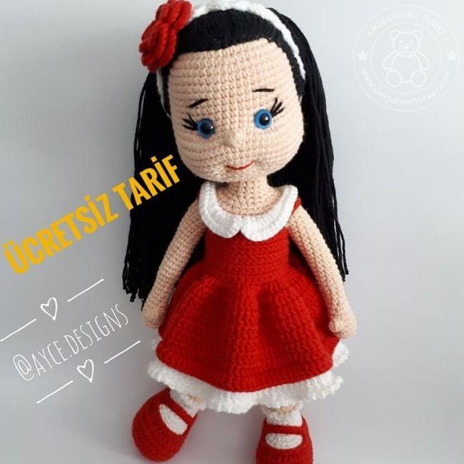 Amigurumi Balerin Bebek Yapılışı- Amigurumi Ballerina Doll Free ... | 650x650