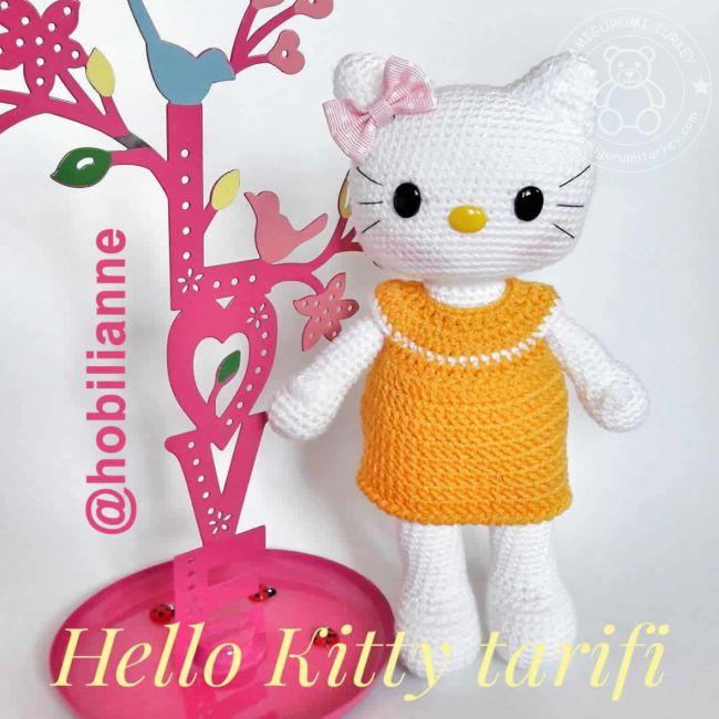 Amigurumi Örgü Oyuncak Tekniğiyle Yapılmış Hello Kitty Modeli ... | 650x650