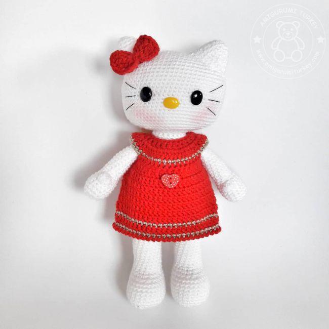 Cat Kid Design - Amigurumi Hello Kitty | MiaMano | 650x650
