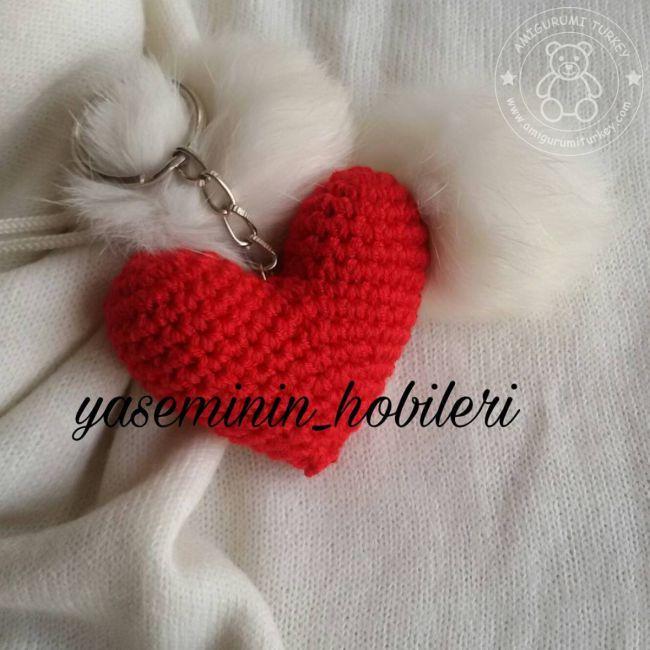 Amigurumi Kalp Yapılışı | Amigurumi, Örme kalpler, Sevgililer | 650x650
