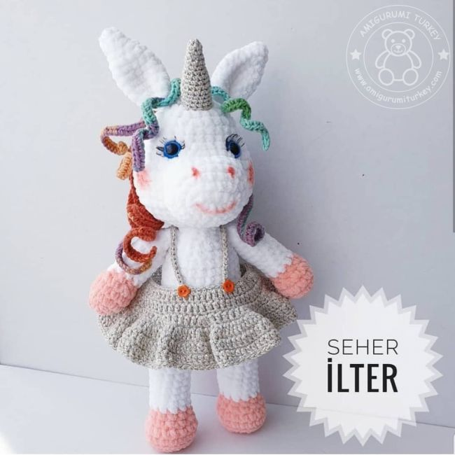 Amigurumi Unicorn Oyuncak - Moda Model | 650x650