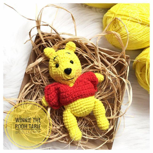 crochet pattern, winnie the pooh! | Crochet disney, Amigurumi ... | 650x650