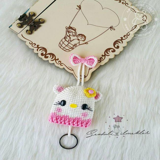 AMIGURUMI Hello Kitty Anahtarlık Yapımı( Amigrumi Hello Kitty ... | 650x650