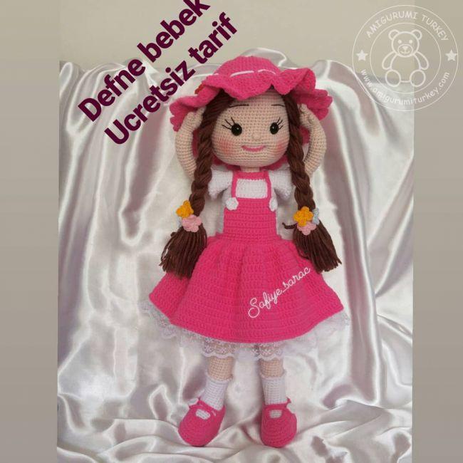 Aysun Yıldız Konbul Amigurumi Organik Oyuncak Şapkalı Kız Bebek ... | 650x650